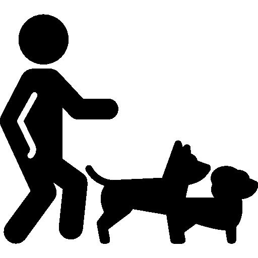 homme 2 chiens